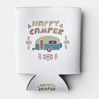 Happy Camper Can Cooler