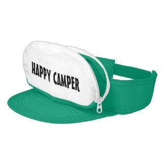HAPPY CAMPER cap sac sun visor for camping fun