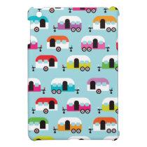 Happy camper caravan hippie retro pattern iPad mini cover