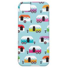 Happy Camper Caravan Hippie Retro Pattern Iphone Se/5/5s Case at Zazzle