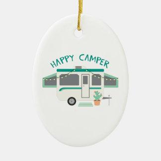 Happy Camper Ceramic Ornament