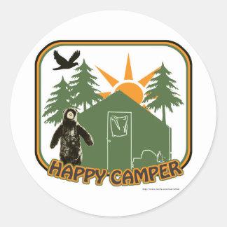 Happy Camper Classic Classic Round Sticker