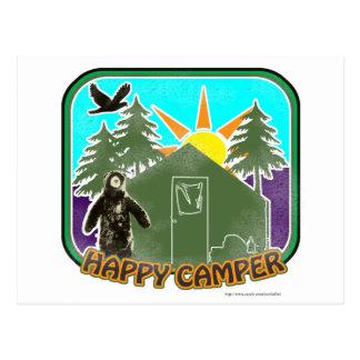 Happy Camper Color Postcard