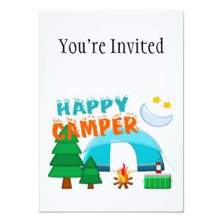 Happy Camper Cookout 5x7 Paper Invitation Card