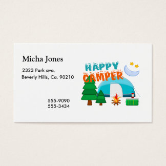 Happy Camper Cookout Business Card