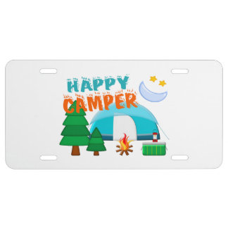 Happy Camper Cookout License Plate