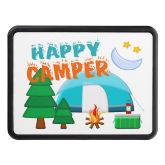 Happy Camper Cookout Trailer Hitch Covers