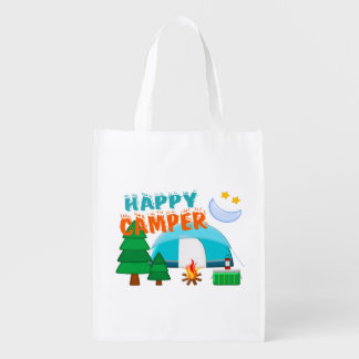 Happy Camper Cookout Grocery Bag