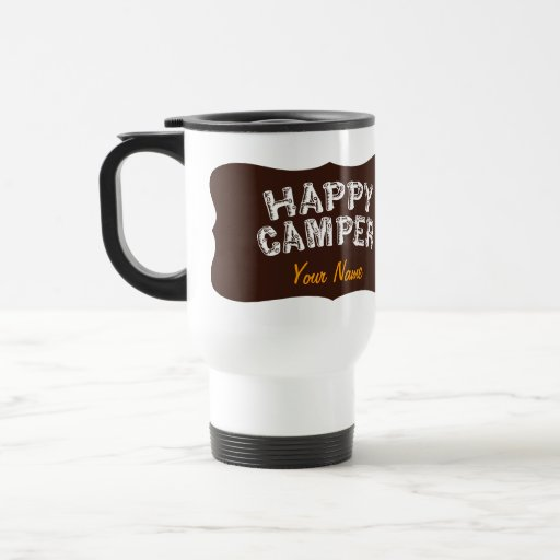 Happy Camper Eat Sleep Camp 15 Oz Stainless Steel Travel Mug