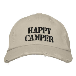 Happy Camper Embroidered Hat