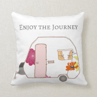 Happy Camper - Enjoy the Journey Throw Pillow