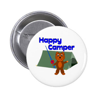 Happy Camper Fishing Pole Buttons