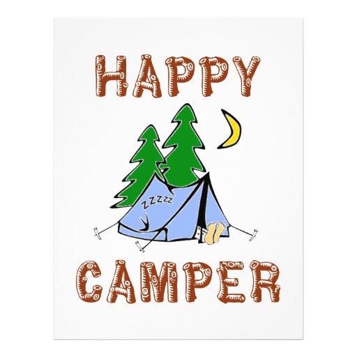 HAPPY CAMPER FULL COLOR FLYER Zazzle