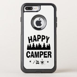 Happy Camper Fun Camping Quote OtterBox Commuter iPhone 8 Plus/7 Plus Case