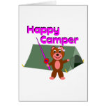 Happy Camper - Girl with Fishing Pole Card