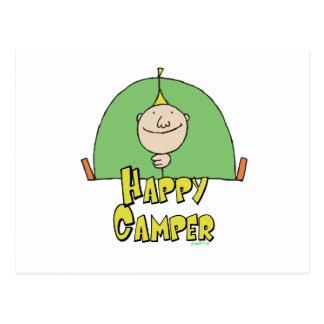 Happy Camper Guy Postcard
