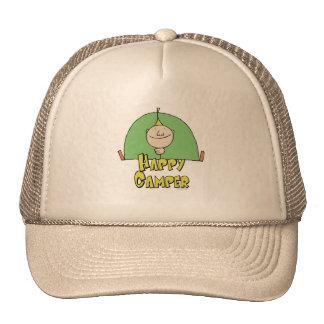 Happy Camper Guy Trucker Hat