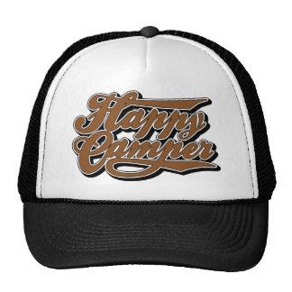 Happy Camper in Brown Trucker Hat
