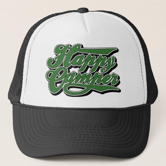 Happy Camper in Green Hat