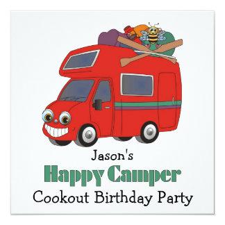 Happy Camper....! Invitation