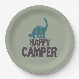 Happy Camper Kids Dinosaur Paper Plate