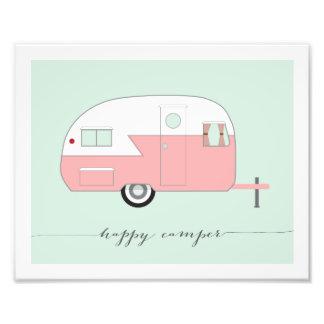 Happy Camper Photo Paper Print - Pink