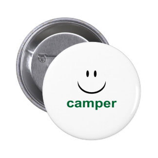 Happy Camper Pinback Buttons