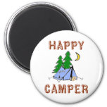 HAPPY CAMPER REFRIGERATOR MAGNET