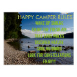 HAPPY CAMPER RULES POSTER