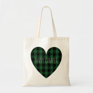 Happy Camper   Rustic Camping Heart Retired RVer Tote Bag