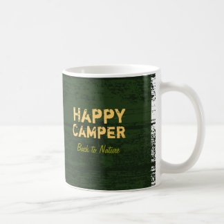 Happy Camper Rustic Custom Camping Mug