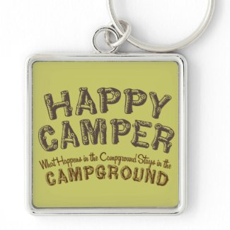 Happy Camper - RV Camping Keychain