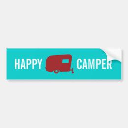 Happy Camper - RV - Travel Trailer Humor Bumper Sticker