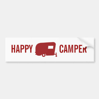 Happy Camper - RV - Travel Trailer Humor Car Bumper Sticker