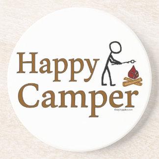 Happy Camper Sandstone Coaster