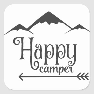 Happy Camper Square Sticker