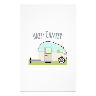 Happy Camper Customized Stationery