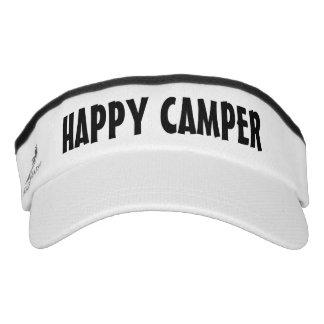HAPPY CAMPER sun visor cap | Funny camping hat