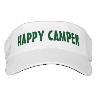 HAPPY CAMPER sun visor cap | Funny camping hats