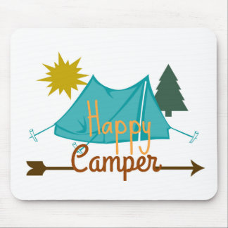 Happy Camper Tent Outdoors Mouse Pad