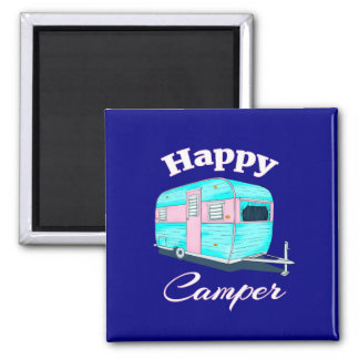 Happy Camper Trailer Camping Magnet