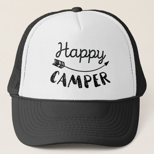 214fcff93a5bf Happy Camper Trucker Hat