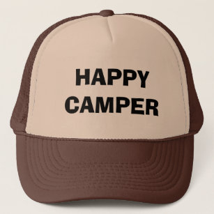 HAPPY CAMPER trucker hat for camping and RVing 63c180a29868