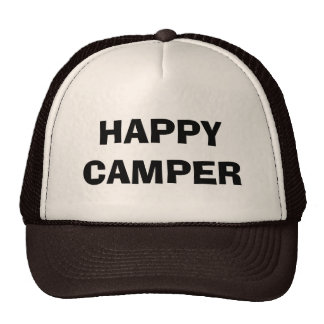 HAPPY CAMPER trucker hat for camping and RVing