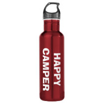 HAPPY CAMPER water bottle for camping and RVing