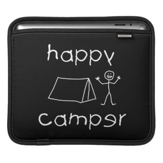 Happy Camper (wht) iPad Sleeve