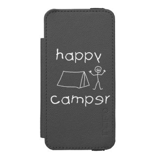 Happy Camper (wht) iPhone SE/5/5s Wallet Case
