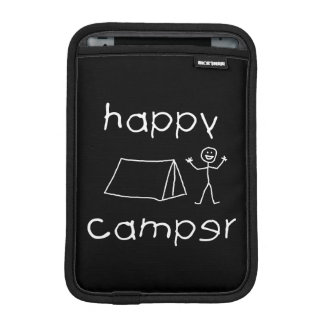 Happy Camper (wht) Sleeve For iPad Mini
