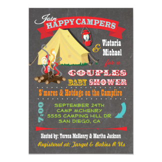 Happy Campers Baby Shower Invitations