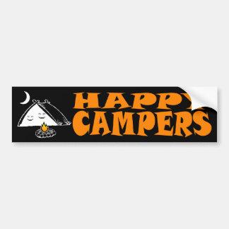Happy Campers Bumper Sticker Car Bumper Sticker